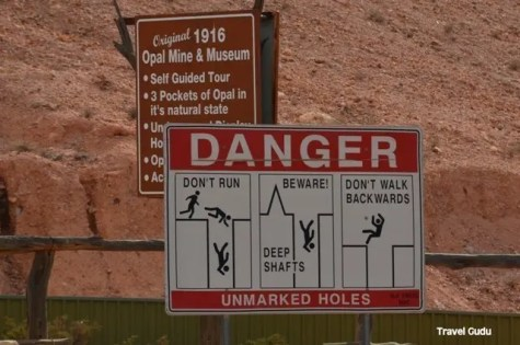 Signs in Coober Pedy
