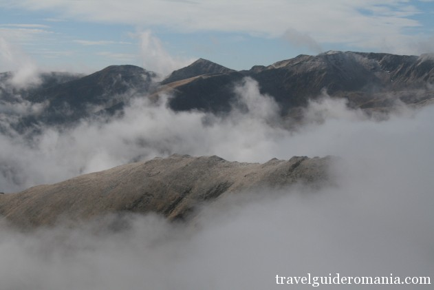 above the clouds in Fagaras mountains