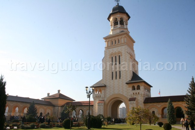 Entrance at Orthodox Cathedral in Alba Iulia city