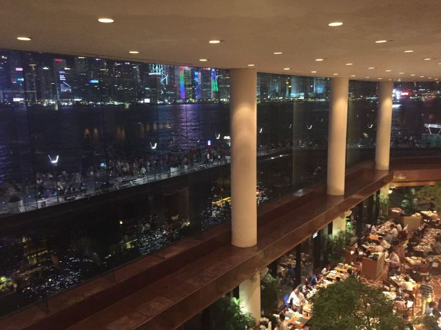 View from the lobby lounge @ Intercontinental Hong Kong