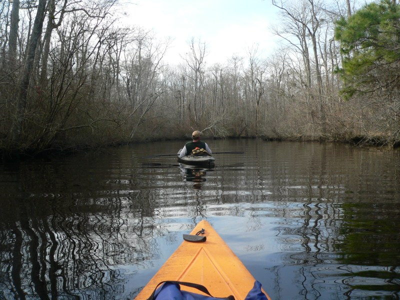 Winter Kayaking on Dividing Creek - Worcester County, MD