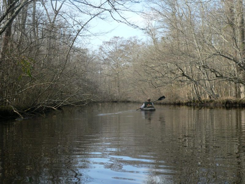 Winter Kayaking on Dividing Creek - Worcester County, MD