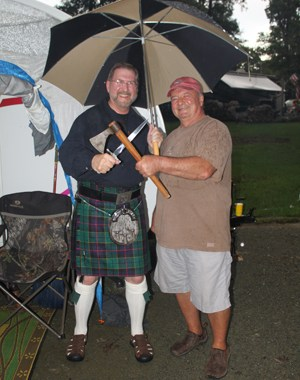 Hagmen - Andy and Dan befroe the Address to a Haggis