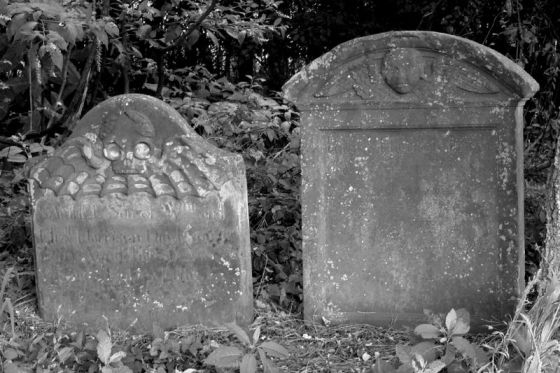 Harrison Graves Batwings Headstone