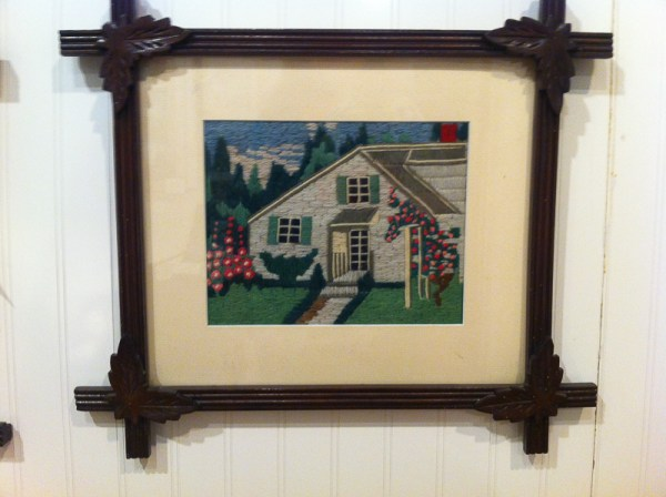 Needlework by Julia A. Purnell on display at Museum