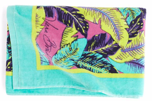Vera Bradley Beach Towel in Palm Feathers