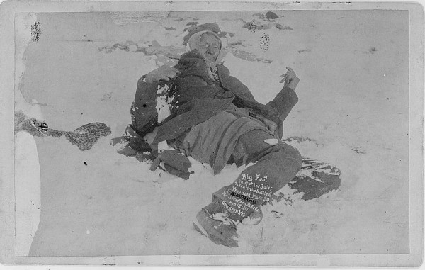 Chief Big Foot - frozen in the snow at Wounded Knee