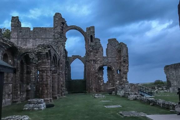 Lindisfarne Priory rainbow arch