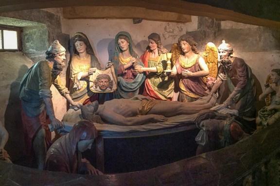 Saint-Thégonnec Ossuary in Brittany - mise au Tombea - the Entombment