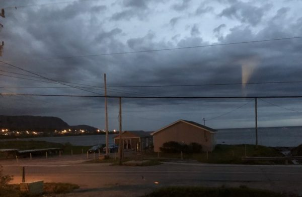 Our view on the first night - windy, stormy Rocky Harbor