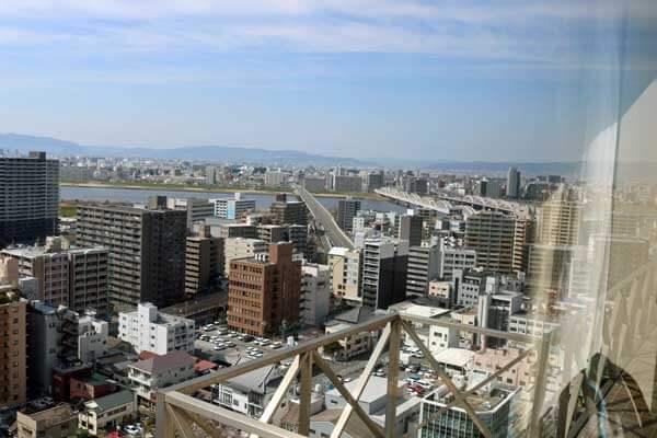 ウェスティン大阪 コーナースイート 眺望 WESTIN OSAKA CORNER SUITE VIEW FROM THE ROOM