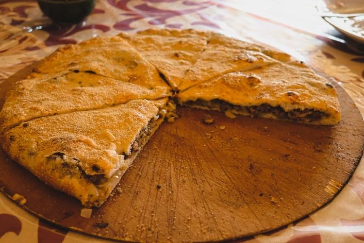 Medfouna, stuffed pizza, Morocco, Rissani, Sahara Desert