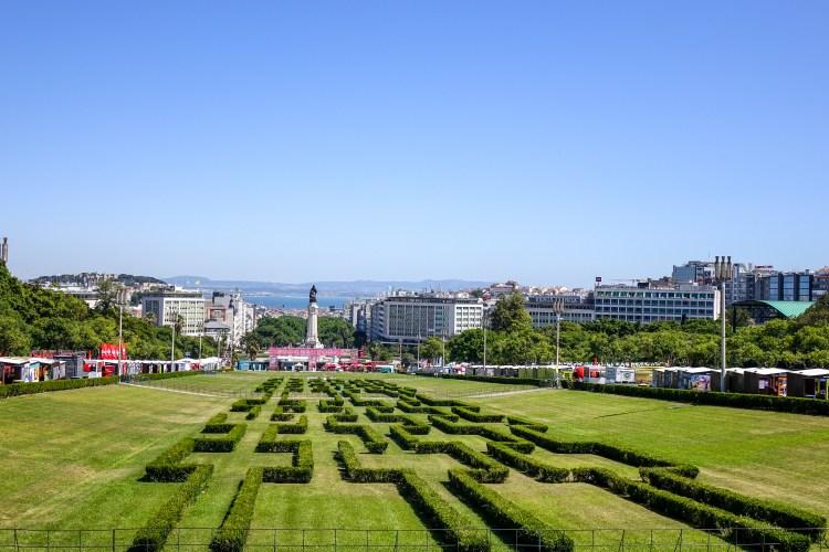 Lisbon landmarks, Lisbon Book Fair, Park Eduardo VII