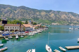 The calm of Kotor harbor.