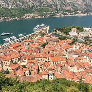 Old Town Kotor, from above.