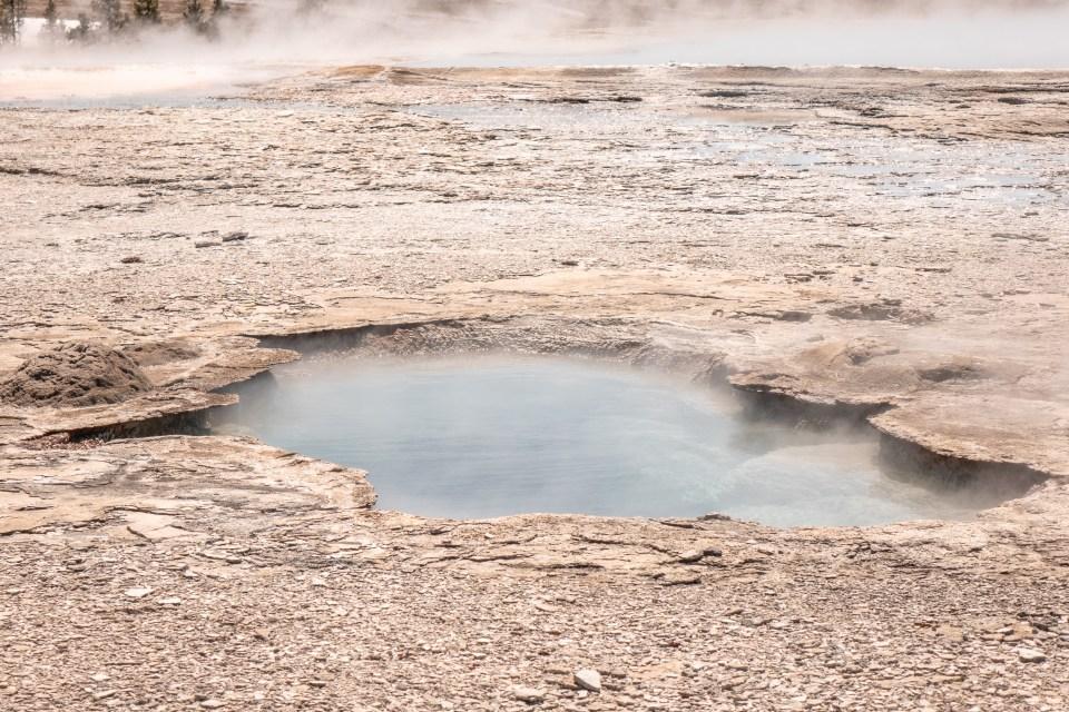 Yellowstone in April Upper Geyser Basin Vault Geyser