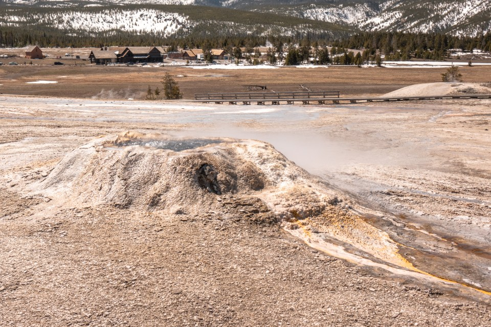 Yellowstone in April Upper Geyser Basin Sponge Geyser