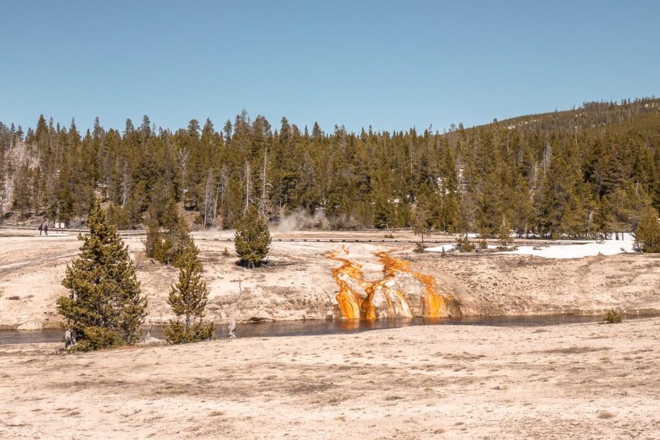 Yellowstone in April Upper Geyser Basin Chimney Cone