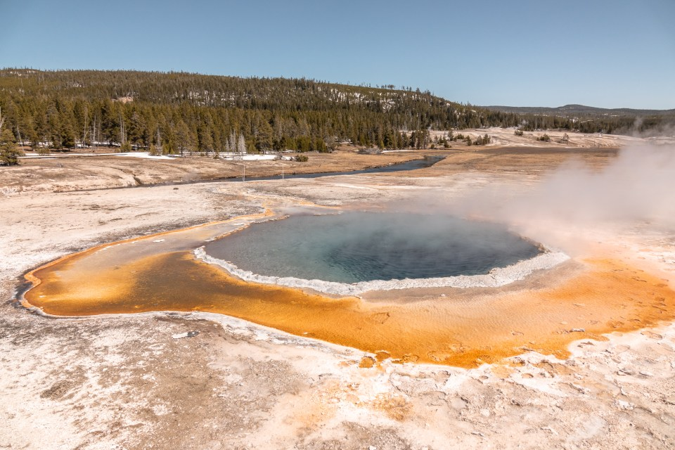 Yellowstone in April Upper Geyser Basin Crested Pool