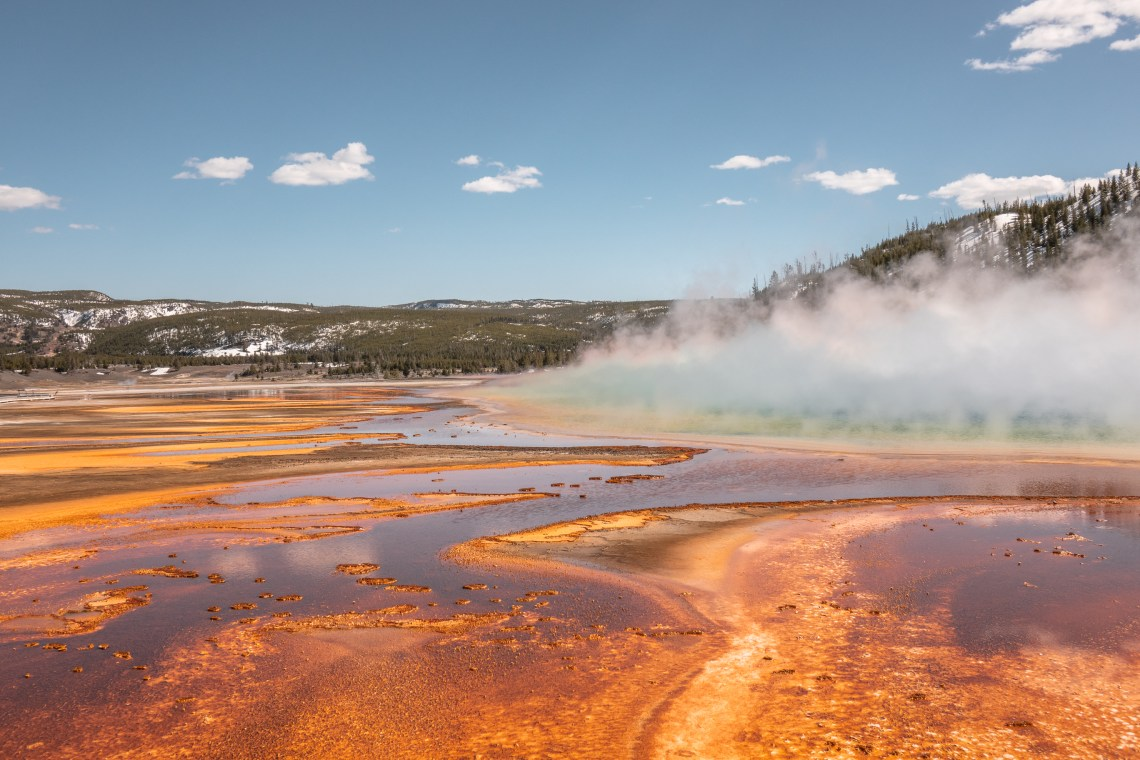 Yellowstone in April Grand Prismatic Spring