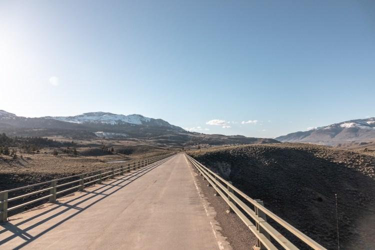 Yellowstone in April Mammoth