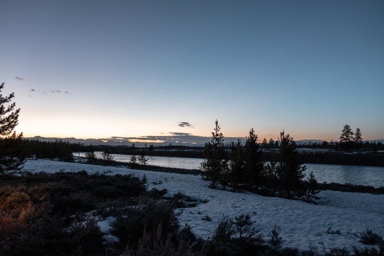 Yellowstone in April Sunset