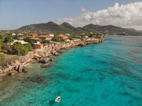 Playa Kalki Curacao Drone Shot