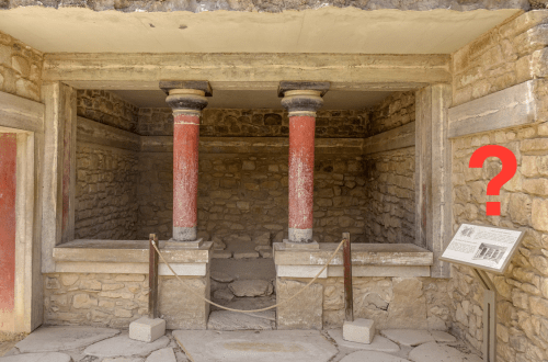 The Minoan Palace of Knossos Signage