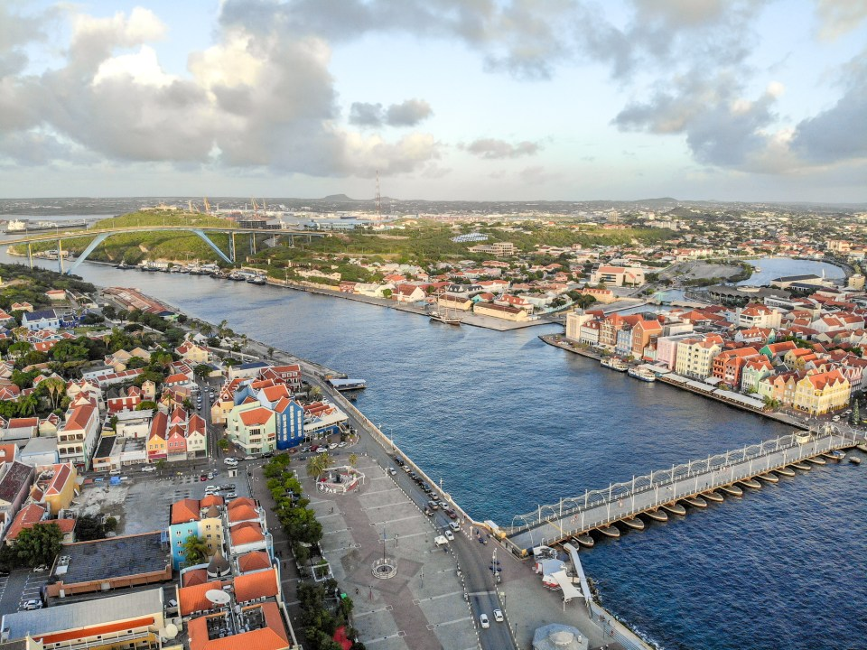 Willemstad, Curaçao Bridges Drone Shot