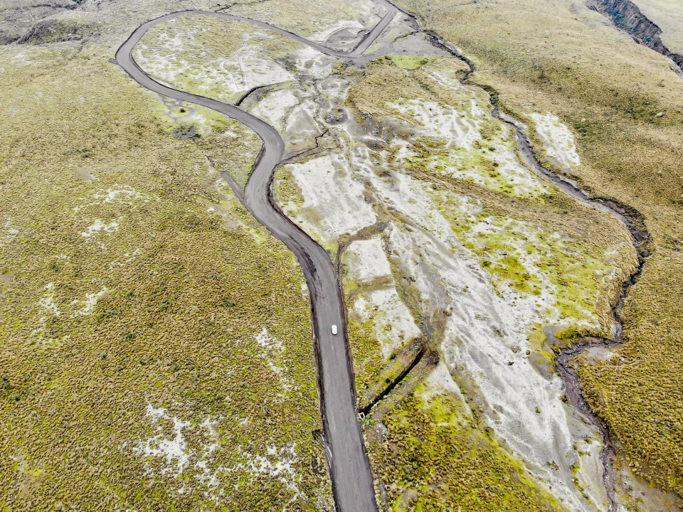 Drone at Cotopaxi, ActiveTrack