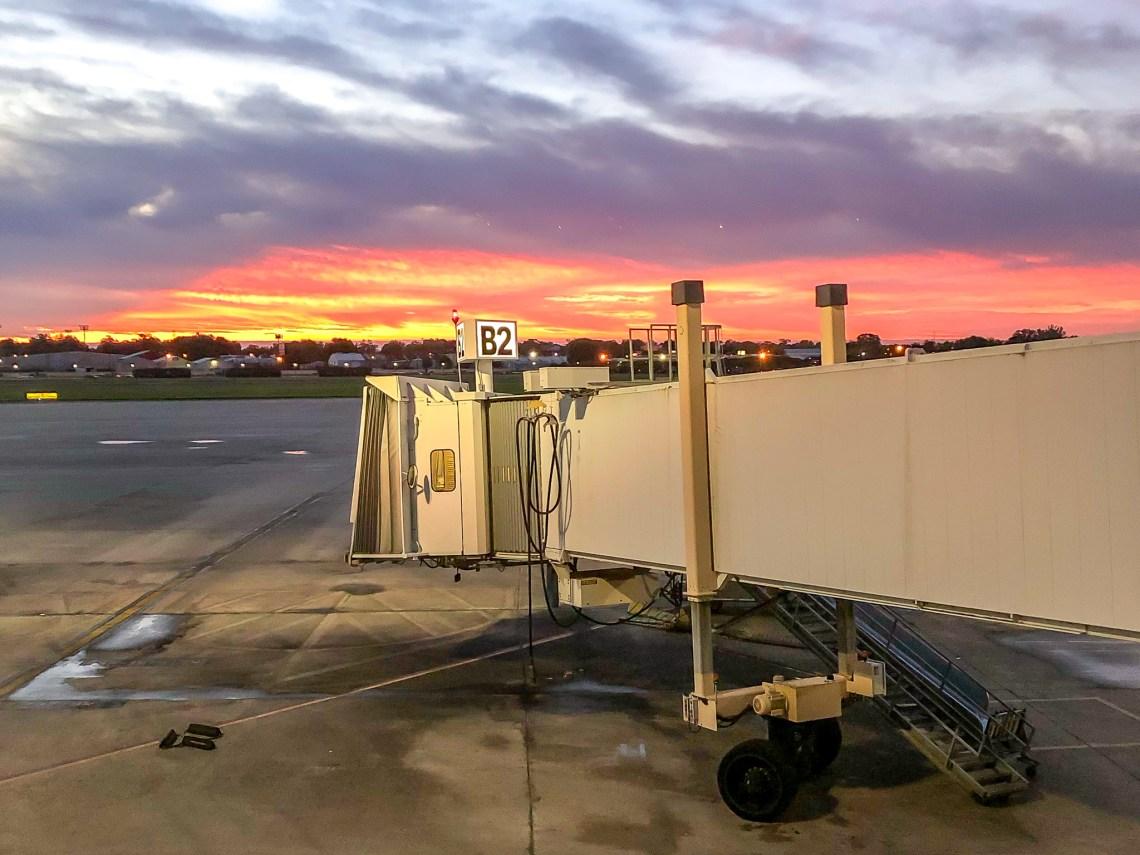 Southwest Airport Terminal Sunset