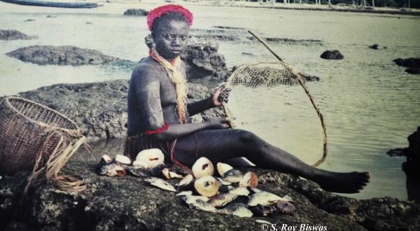 Jarwa Girl ,Jarwa Tribe, Andaman and Nicobar Island