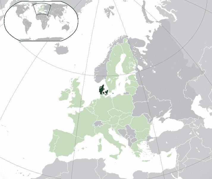 Danimarca map