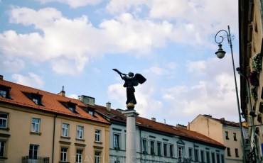 Angel in the main square of Uzupis, Vilnius
