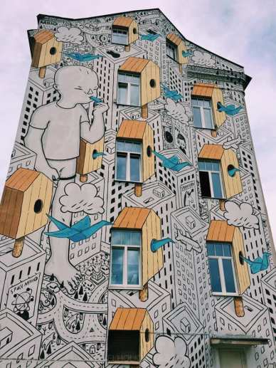 murales a vilnius in lituania
