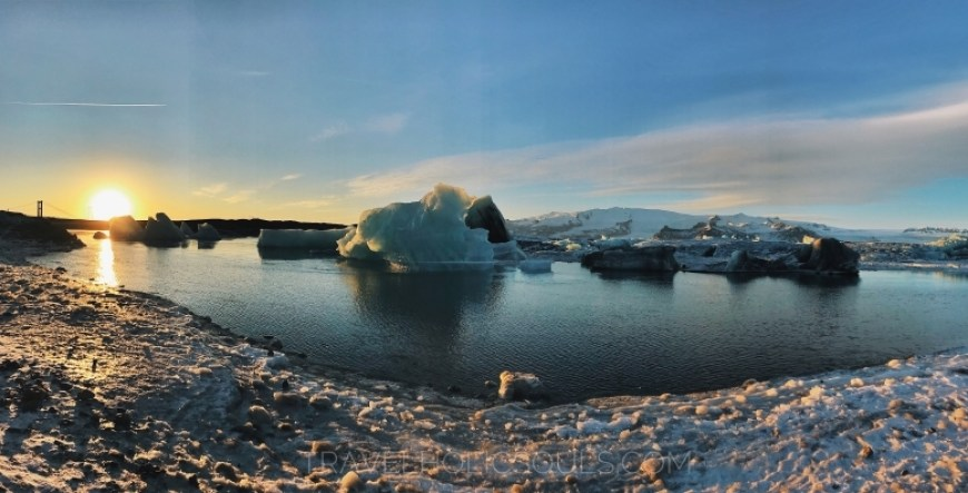 Pano glacier lagoon iceland