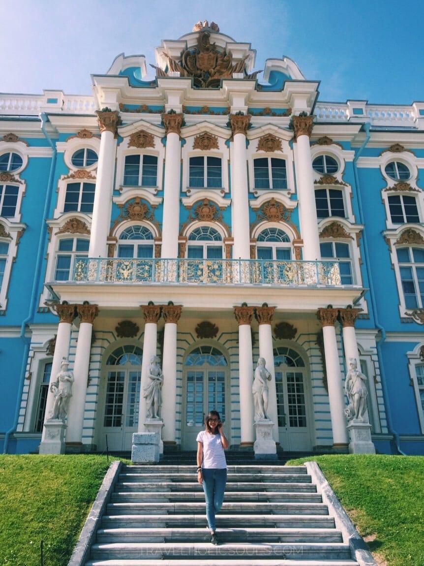 detail catherine palace in pushkin