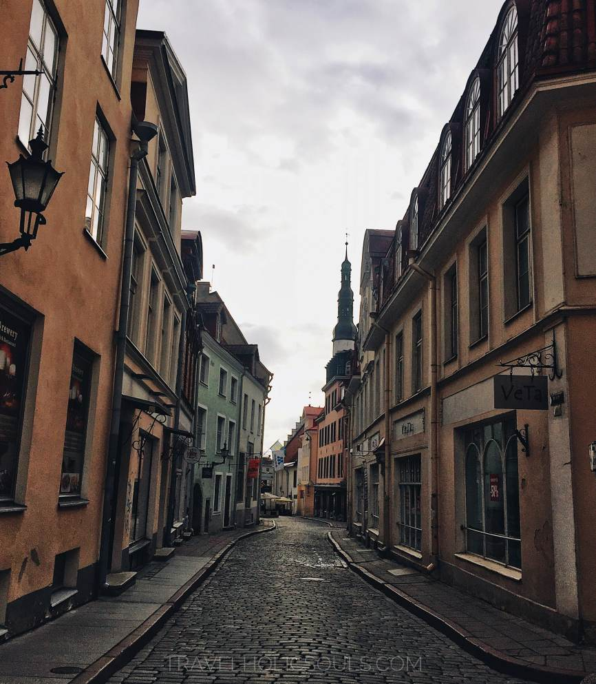 medieval streets of Tallinn