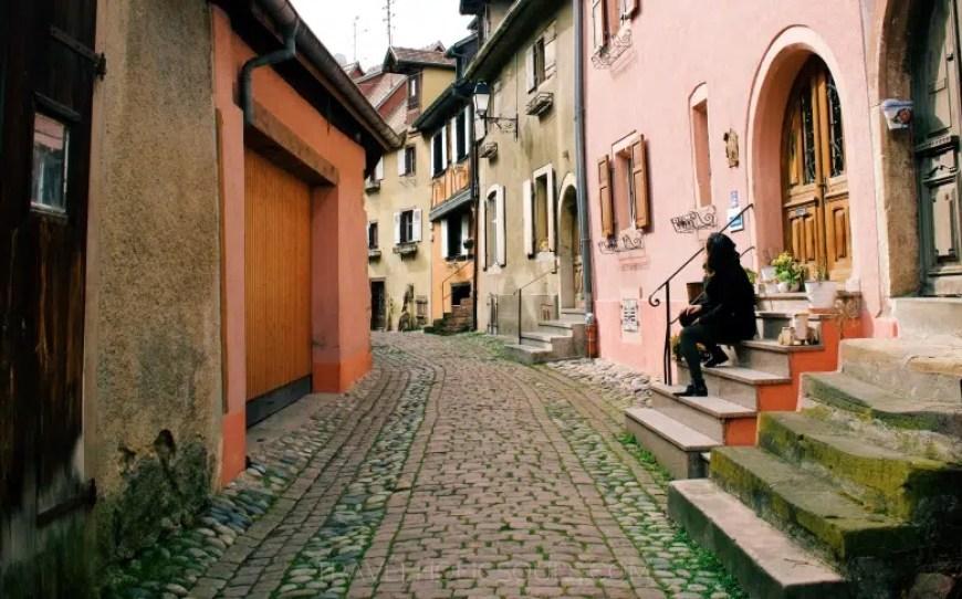 particolare eguisheim francia