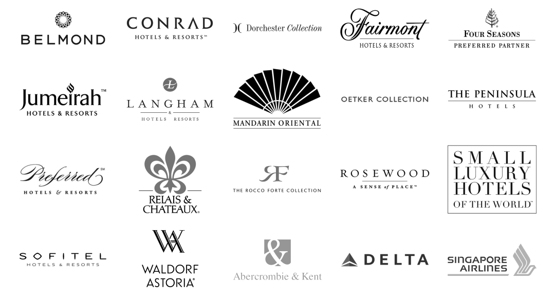 Luxury travel supplier logos