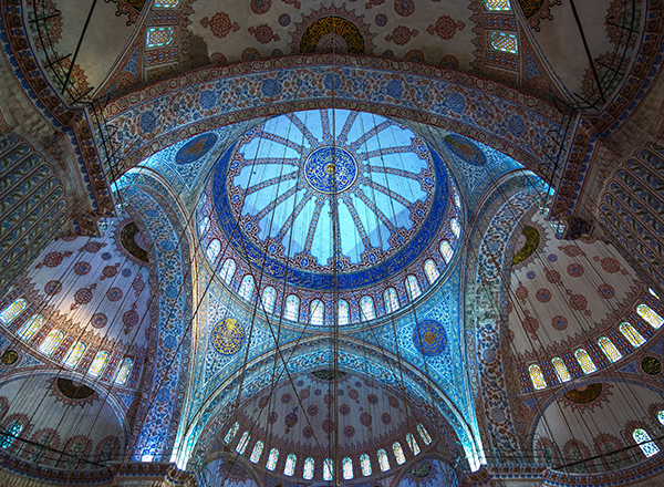 Ceiling of Blue Mosque, Istanbul, Turkey