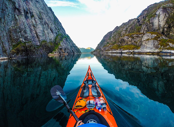 Kayaking on Fjords, Norway