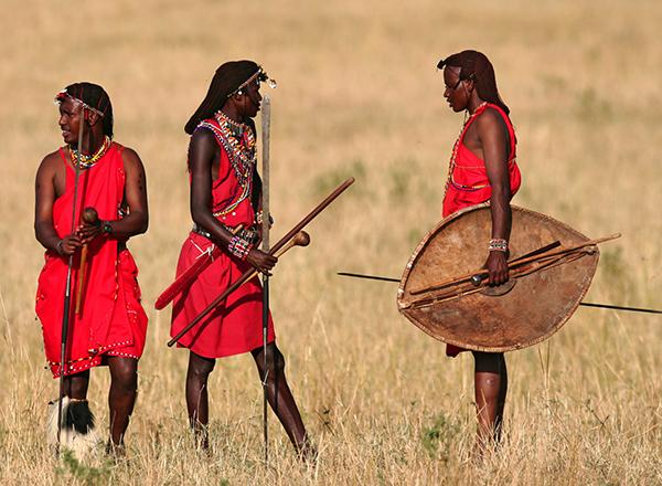 לוחמי מסאי בקניה