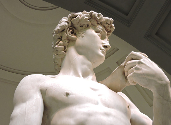 Detail of Michelangelo's David