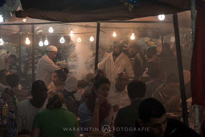 Abendessen auf dem Djemaa el Fna