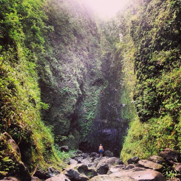 waterfalls road to hana