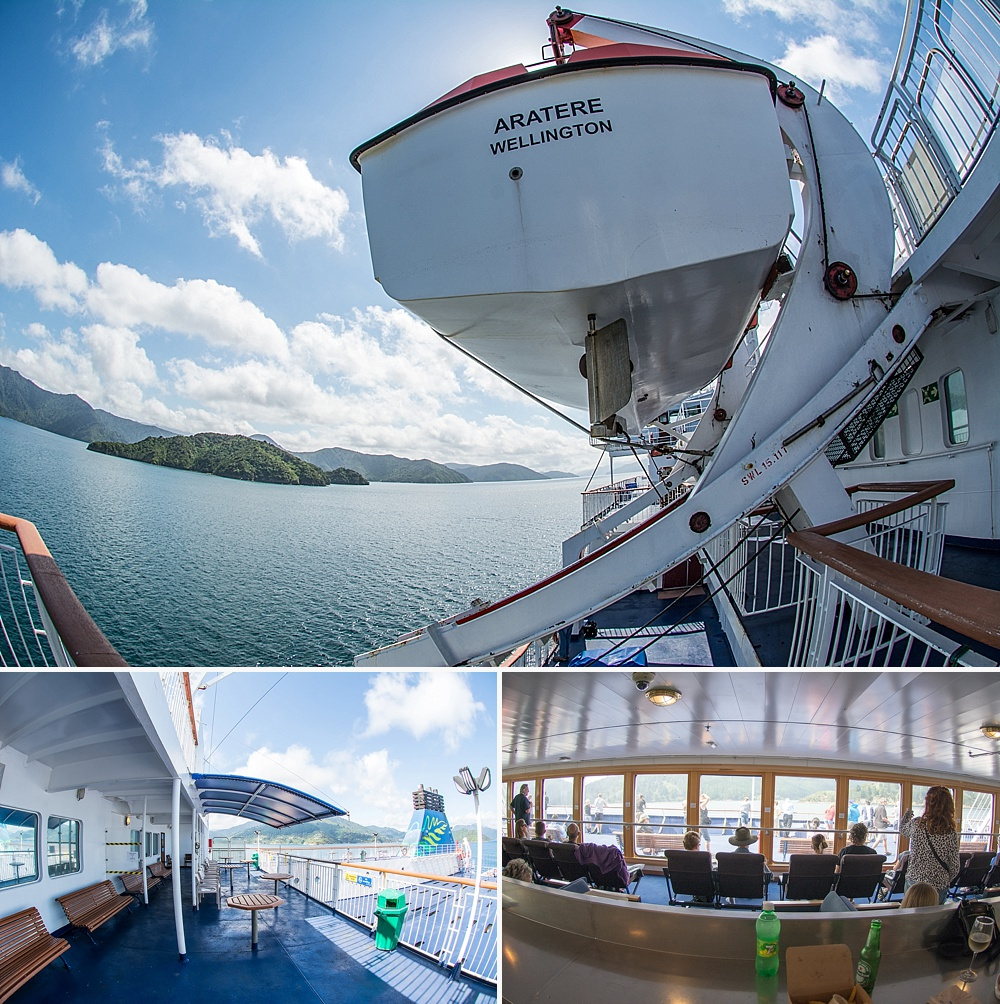 ferry travel between new zealand south north island