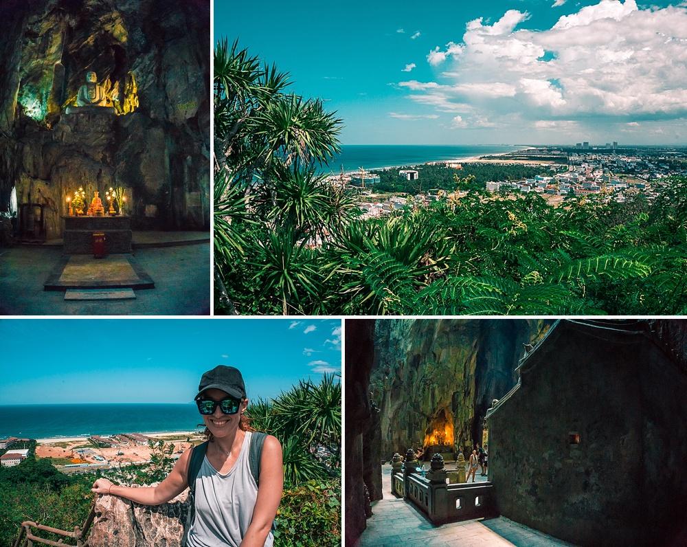 visiting marble mountains da nang vietnam