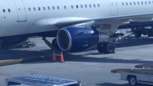 One of the CFM56-5B powering the A321