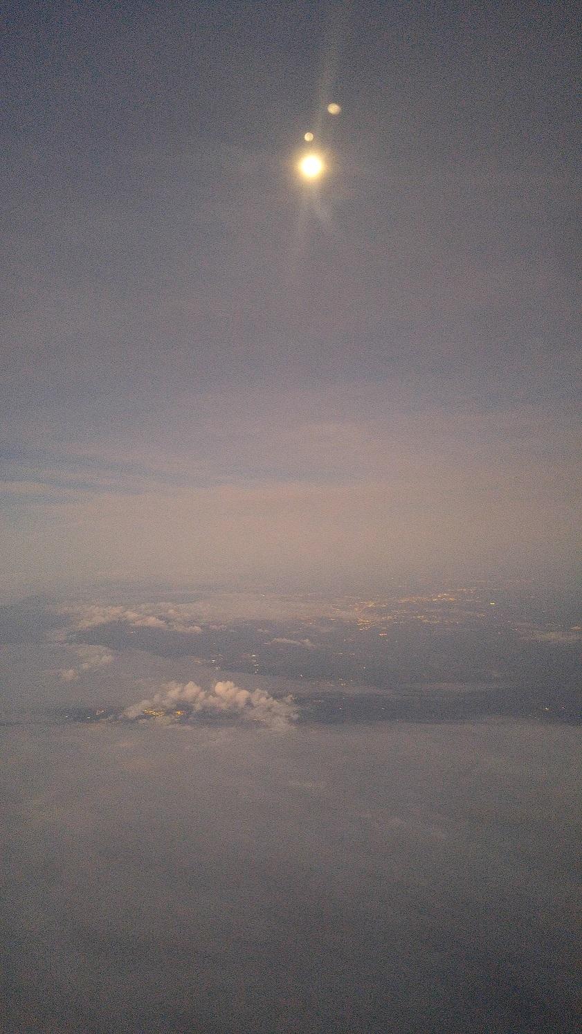 The Moon at 30,000 Feet